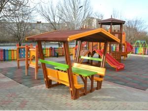 Детская беседка со столом и скамейками Б 02