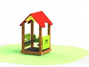 Детская домик со скамейками Б 23