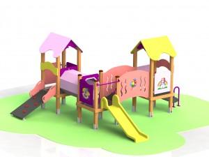 """Детский игровой комплекс КД 45 """"Маленькая принцесса"""""""
