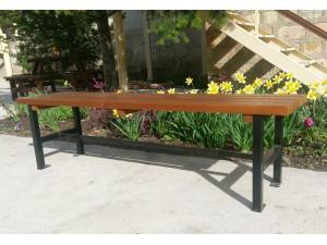 Скамейка садовая без спинки П 01-Б