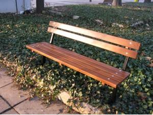 Скамейка садовая со спинкой П02-А