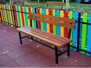 Скамейка садовая со спинкой П 02-Б