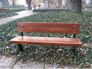 Скамейка парковая со спинкой П15