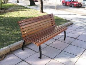 Скамейка парковая со спинкой П 16