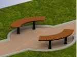 Скамейка парковая П 17