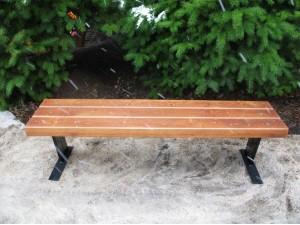 Скамейка парковая без спинки П 19
